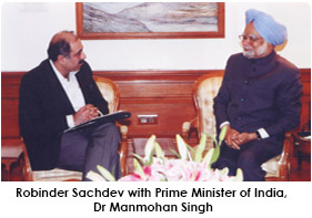 President with Prime Minister, Mr. Manmohan Singh